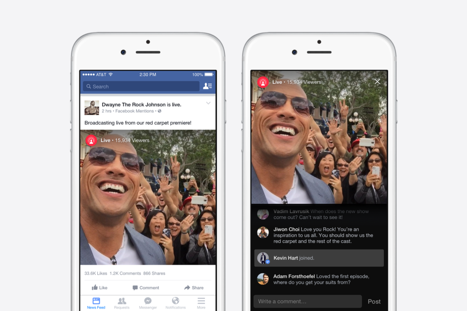 Facebook Mentions Live Mobile Video Live Streaming  Application