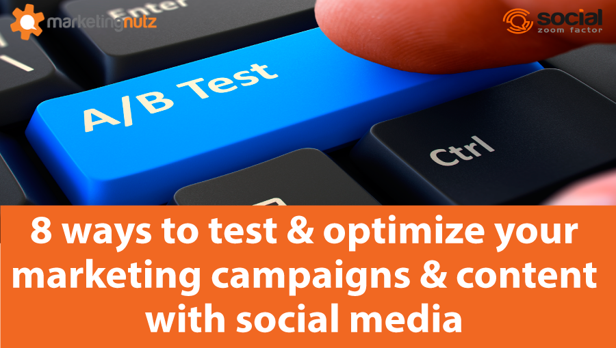 social media for marketing a/b test