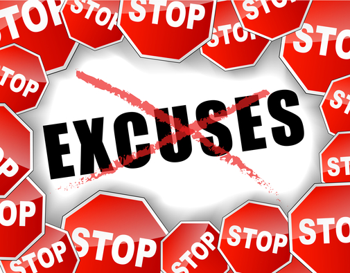 entrepreneur success tips quit making up excuses